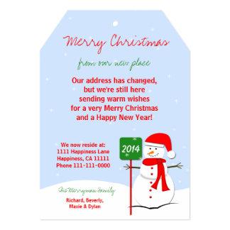 Adressenänderung Weihnachtsflachen 12,7 X 17,8 Cm Einladungskarte