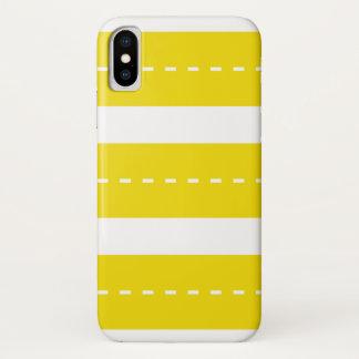 Adrette moderne gelbe weiße Streifen iPhone X Hülle