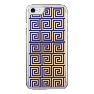 Adrettes Marine-Blau-weißes griechisches Carved iPhone 8/7 Hülle