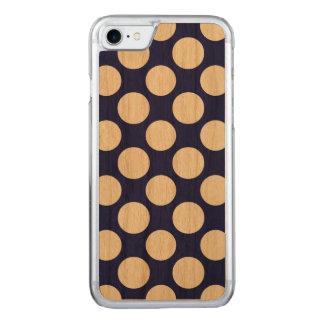 Adrettes Marine-Blau-weißes Tupfen-Muster Carved iPhone 8/7 Hülle