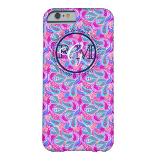 Adrettes Monogramm Buchstabe Paisley-Gewohnheit 3 Barely There iPhone 6 Hülle