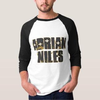 Adrian Niles weiße/schwarze T 3/4 Hülseraglan-, T-Shirt