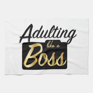 Adulting mögen ein Geschirrtuch des Chef-|