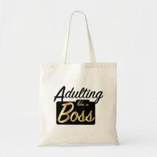 Adulting mögen eine grundlegende Tasche des Chef-|