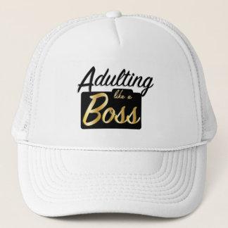 Adulting mögen einen Hut des Chef-| Truckerkappe