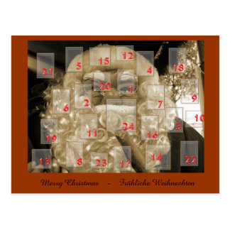 adventskalender mit nikolaus postkarte