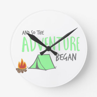 adventurebegan runde wanduhr