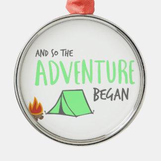 adventurebegan silbernes ornament