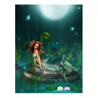 Adventurine Meerjungfrau Postkarte