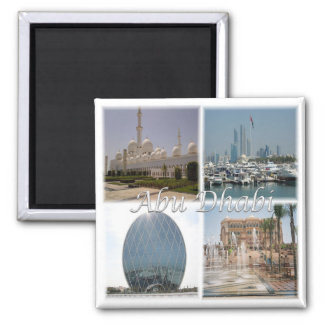 AE * Arabische Emirate - Abu Dhabi Quadratischer Magnet