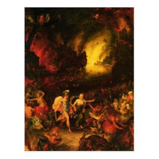 Aeneas in Hades Postkarte