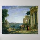 Aeneas und Dido in Karthago, 1675 Poster