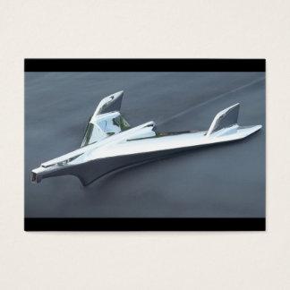 Aero Haubenverzierung des Chroms mit grauer Farbe Visitenkarte