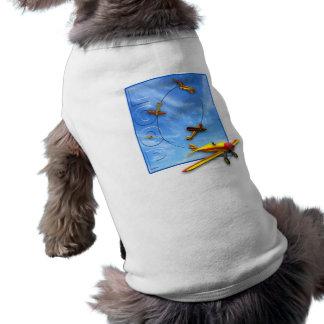 Aerobatic Manöver der Schleife mit Flugzeug Shirt
