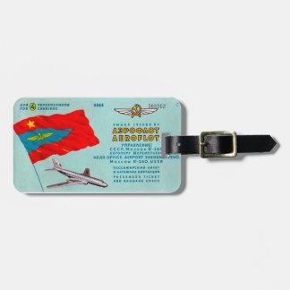 Aeroflot-Passagier-Karte Koffer Anhänger