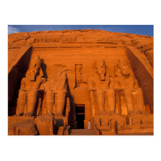AF, Ägypten, Abu Simbel. Fassade am Postkarte