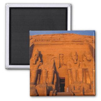 AF, Ägypten, Abu Simbel. Fassade am Sonnenuntergan Quadratischer Magnet