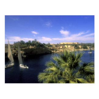 AF, Ägypten, oberes Ägypten, Assuan. Fluss Nil, Postkarte