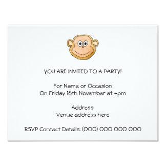 Affe 10,8 X 14 Cm Einladungskarte