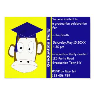 Affe-Abschluss-Einladungs-Schablone 12,7 X 17,8 Cm Einladungskarte
