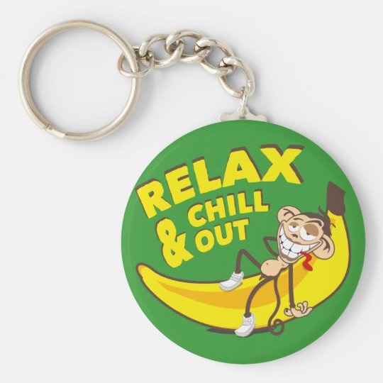 Affe Auf Banane - Relax And Chill Out! Schlüsselanhänger