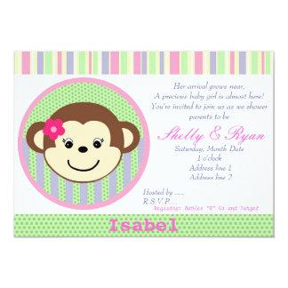 Affe-Baby-Duschen-Einladung 12,7 X 17,8 Cm Einladungskarte