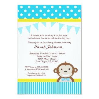 Affe-Babyparty-Einladung - Junge 12,7 X 17,8 Cm Einladungskarte