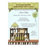 Affe-Babyparty-Einladungsdschungelsafari 12,7 X 17,8 Cm Einladungskarte