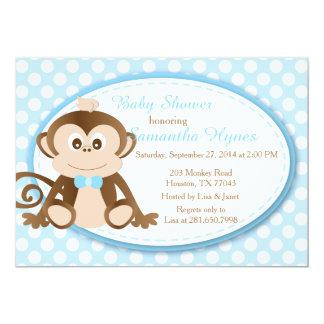 Affe-Babyparty/Geburtstag Einladung-Jungen 12,7 X 17,8 Cm Einladungskarte