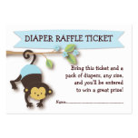 Affe-Babyparty-Windelraffle-Karten-Einsatz Visitenkarten Vorlage