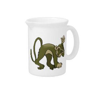 Affe bewegt an Ihnen wellenartig Getränke Pitcher