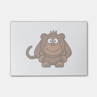 Affe-Cartoon-Tier Post-it Klebezettel