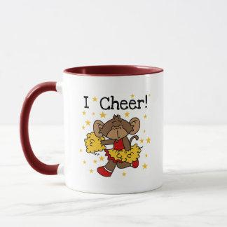 Affe-Cheerleader-Rot und GoldT - Shirts und Tasse