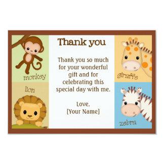 Affe-Dschungel-Babyparty danken Ihnen JUNGE MJS 8,9 X 12,7 Cm Einladungskarte