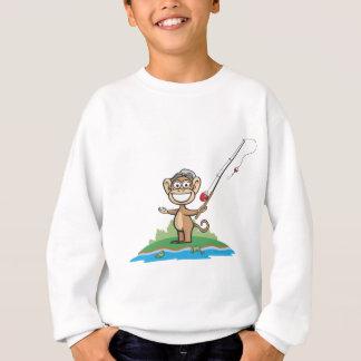 Affe-Fischen Sweatshirt