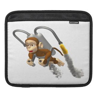 Affe-Fliegen mit Jetpack iPad Sleeve