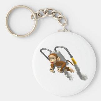 Affe-Fliegen mit Jetpack Schlüsselanhänger