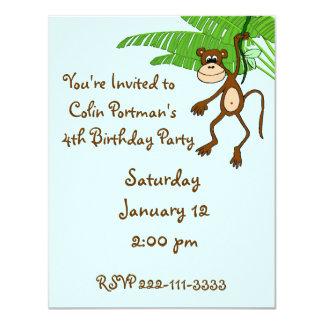Affe-Geburtstags-Einladung 10,8 X 14 Cm Einladungskarte