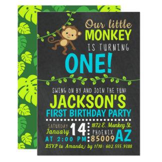 Affe-Geburtstags-Einladung Karte