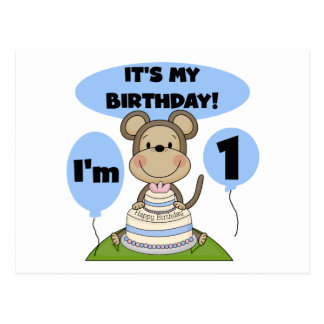 Affe-Geburtstags-Junge 1. Postkarte