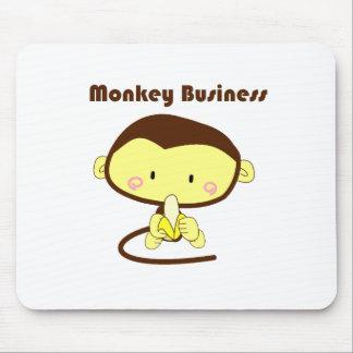 Affe-Geschäft Brown und gelber Schimpanse-Cartoon Mauspads