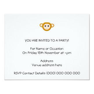 Affe-Gesicht 10,8 X 14 Cm Einladungskarte