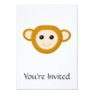 Affe-Gesicht 12,7 X 17,8 Cm Einladungskarte