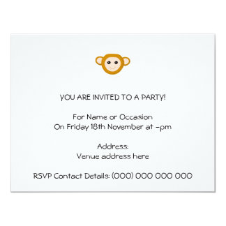 Affe-Gesicht Personalisierte Ankündigungskarte