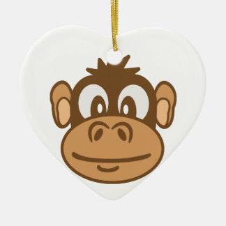 Affe-Gesicht Keramik Ornament