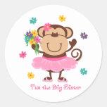 Affe-große Schwester Sticker