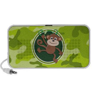 Affe hellgrüne Camouflage Tarnung Notebook Speaker
