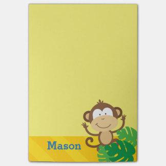 Affe in den Dschungel-personalisierten Post-it Klebezettel