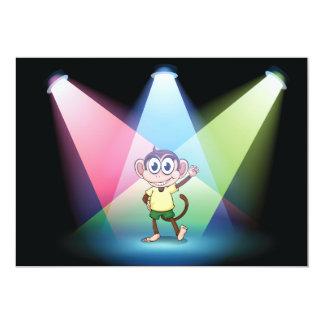 Affe in den Scheinwerfer-Einladungen 12,7 X 17,8 Cm Einladungskarte