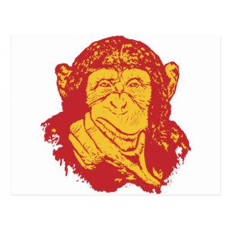 Affe in den tiefen Gedanken Postkarte
